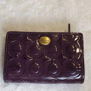 Small purple coach wallet